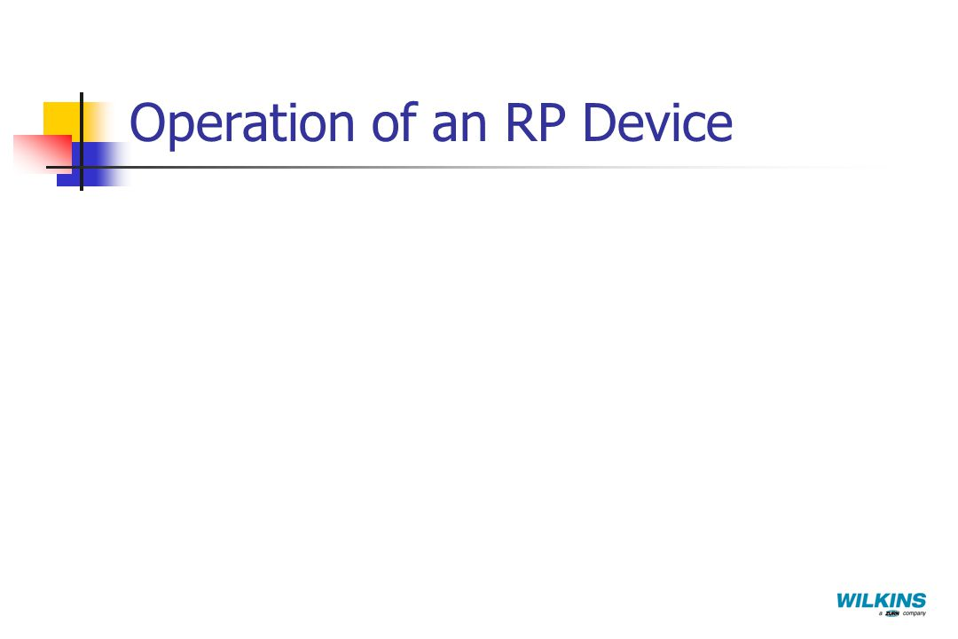 Operation of an RP Device