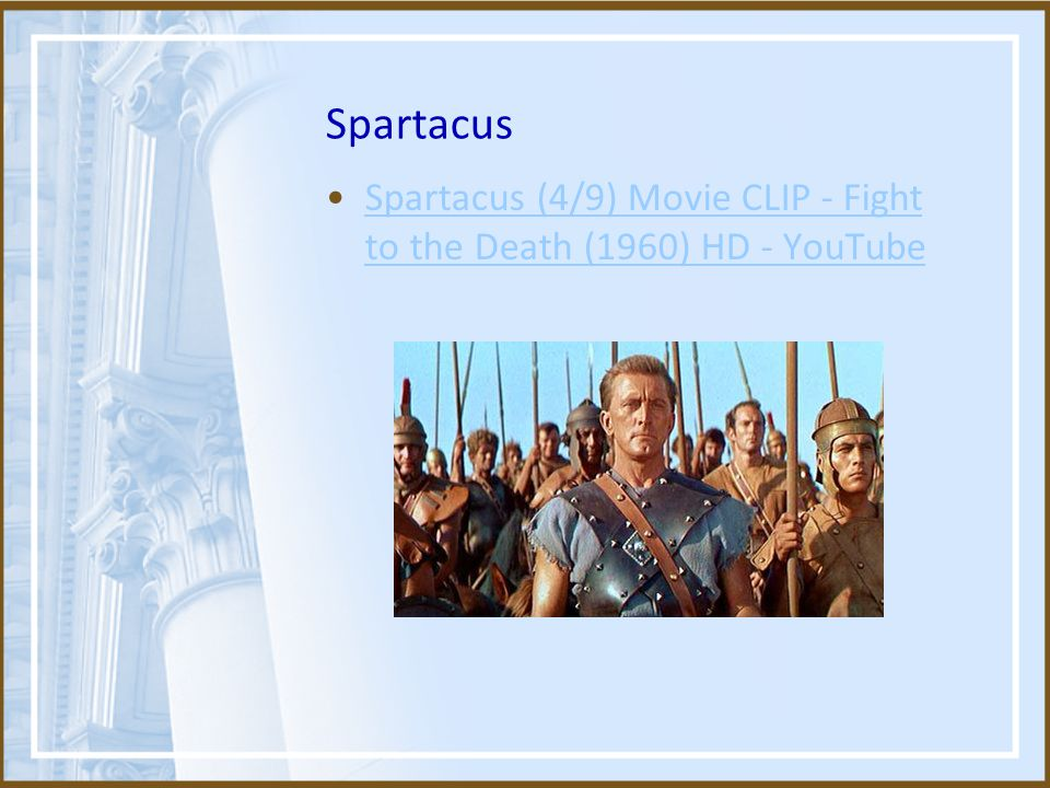 Spartacus Spartacus (4/9) Movie CLIP - Fight to the Death (1960) HD - YouTubeSpartacus (4/9) Movie CLIP - Fight to the Death (1960) HD - YouTube