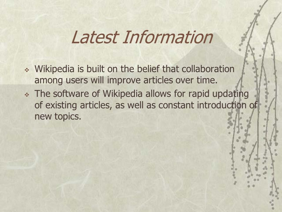 Technology Requirements  Criticism  Wikipedia faces technology constraints as an online encyclopedia.