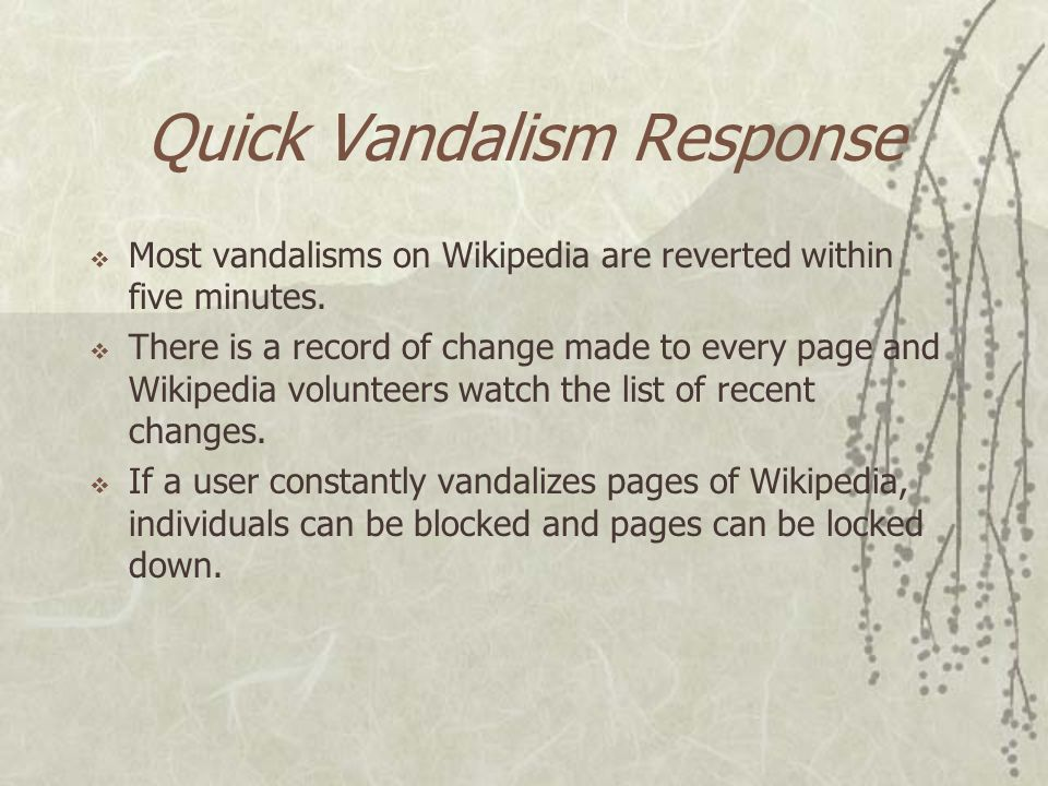Latest Information  Wikipedia is built on the belief that collaboration among users will improve articles over time.