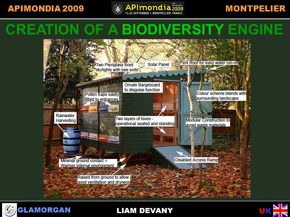 GLAMORGAN UKUK APIMONDIA 2009MONTPELIER LIAM DEVANY CREATION OF A BIODIVERSITY ENGINE