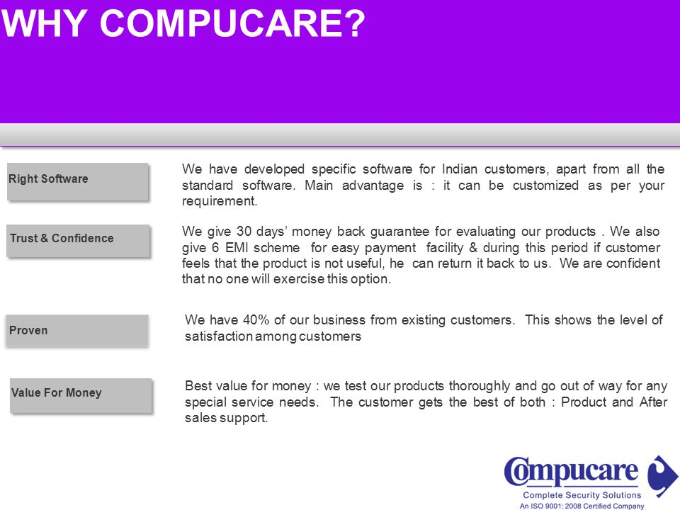 We have 40% of our business from existing customers.