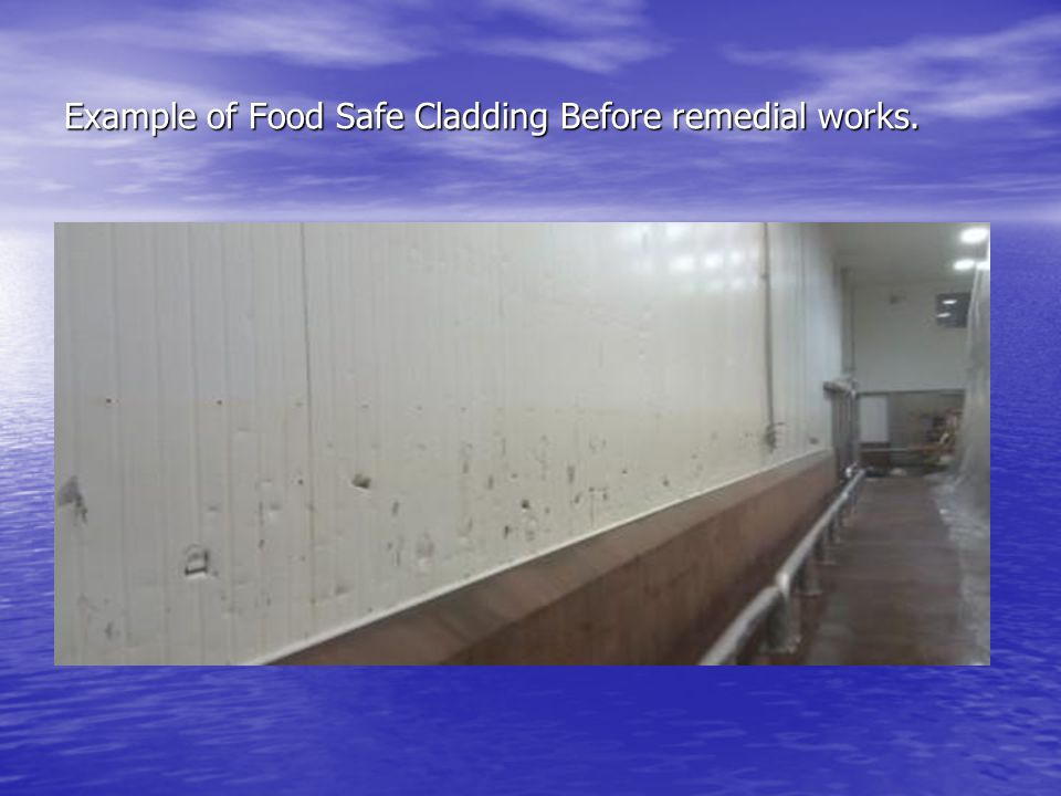 Example of Food Safe Cladding Before remedial works.