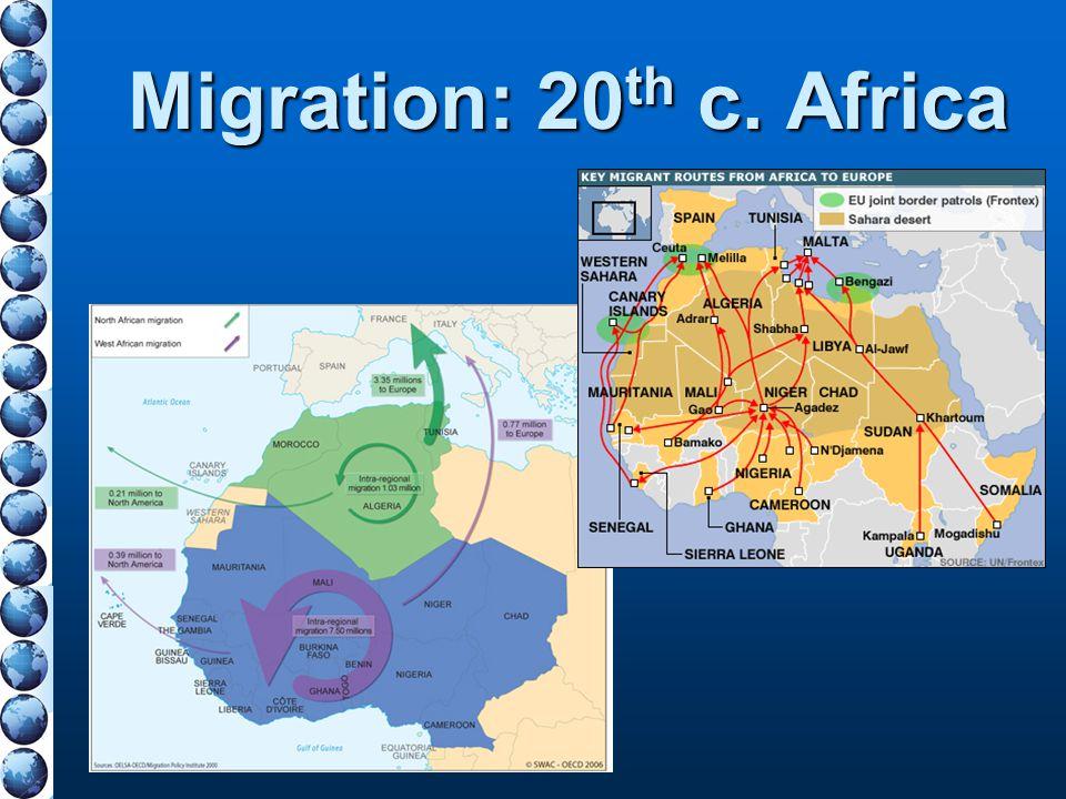 Migration: 20 th c. Africa