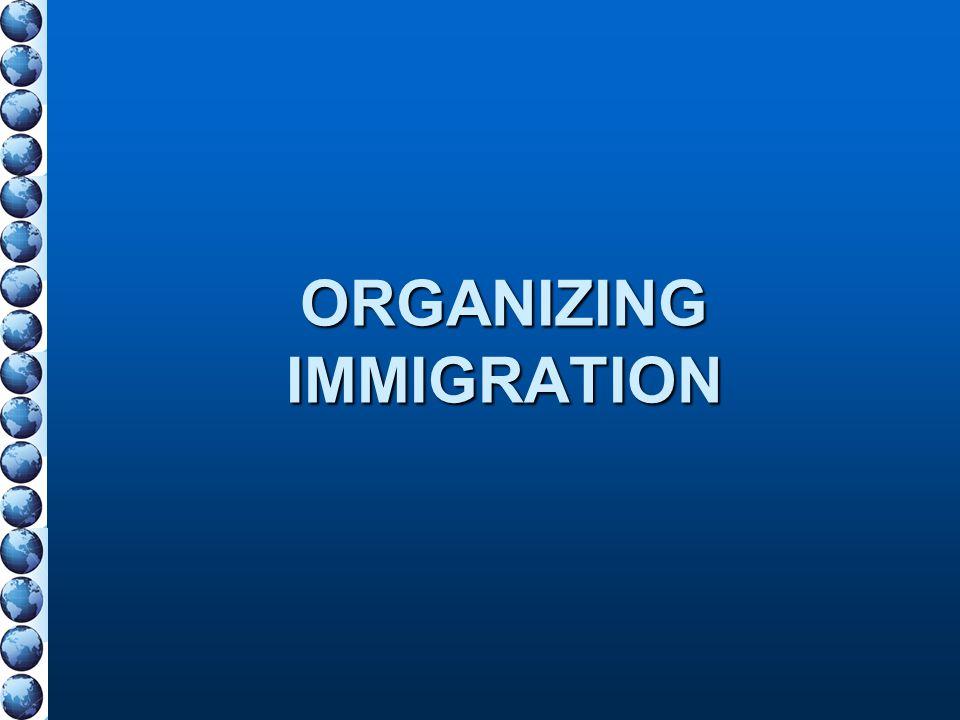 ORGANIZING IMMIGRATION