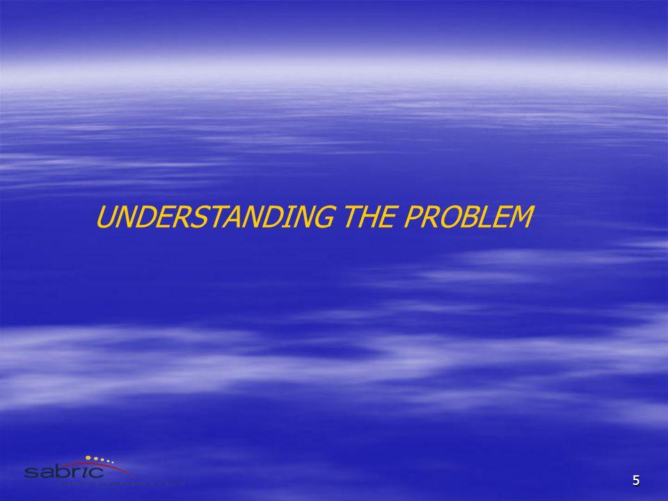 5 UNDERSTANDING THE PROBLEM