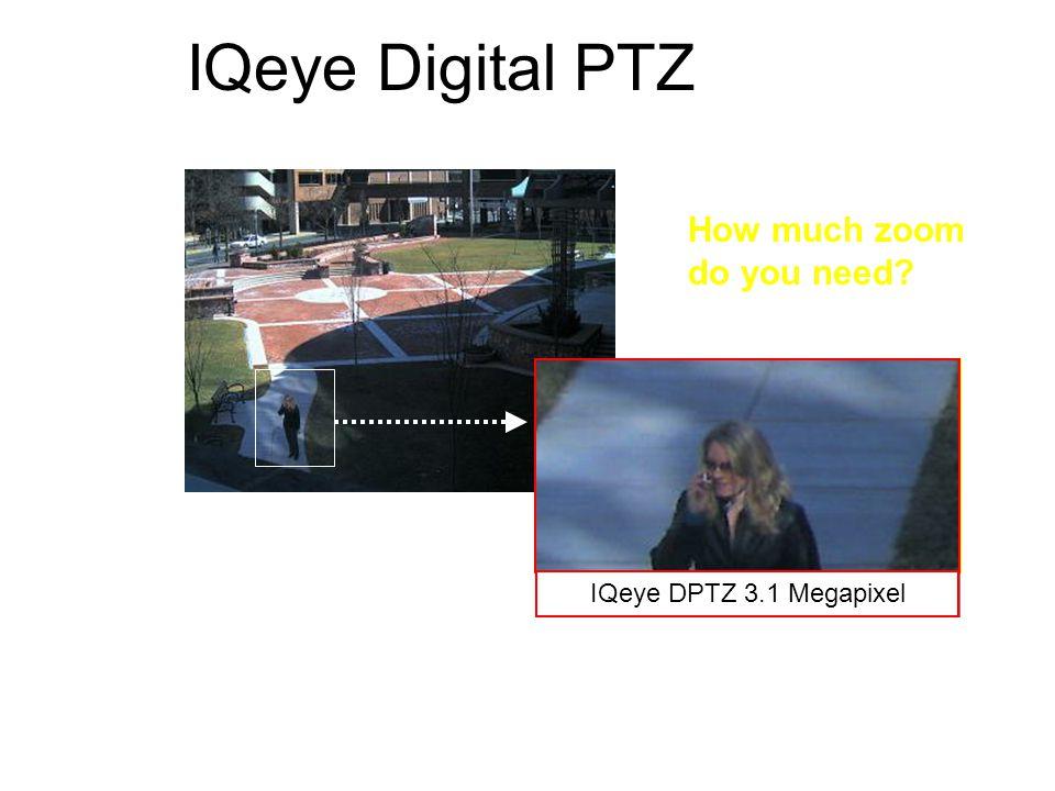 Digital zoom @ cifDigital zoom @ d1 IQeye Digital PTZ IQeye Zoom @ hdtvIQeye Zoom @ 2 MegapixelIQeye DPTZ 3.1 Megapixel How much zoom do you need?
