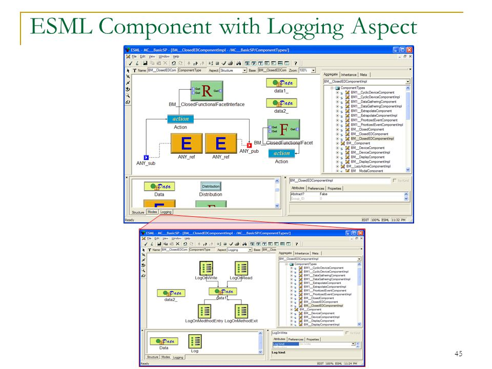 45 ESML Component with Logging Aspect