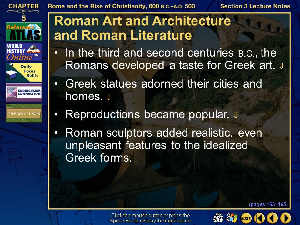 Section 3-4 Preview of Events Culture and Society in the Roman World