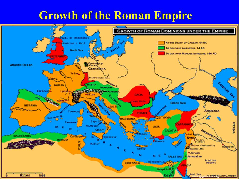 Growth of the Roman Empire www.gbgm-umc.org