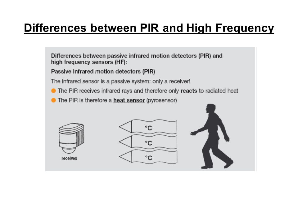 Differences between PIR and High Frequency