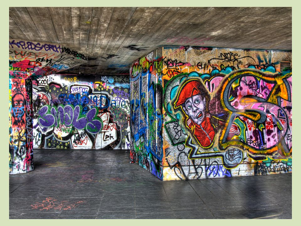 What is Graffiti? When people draw on walls or other property without permission.