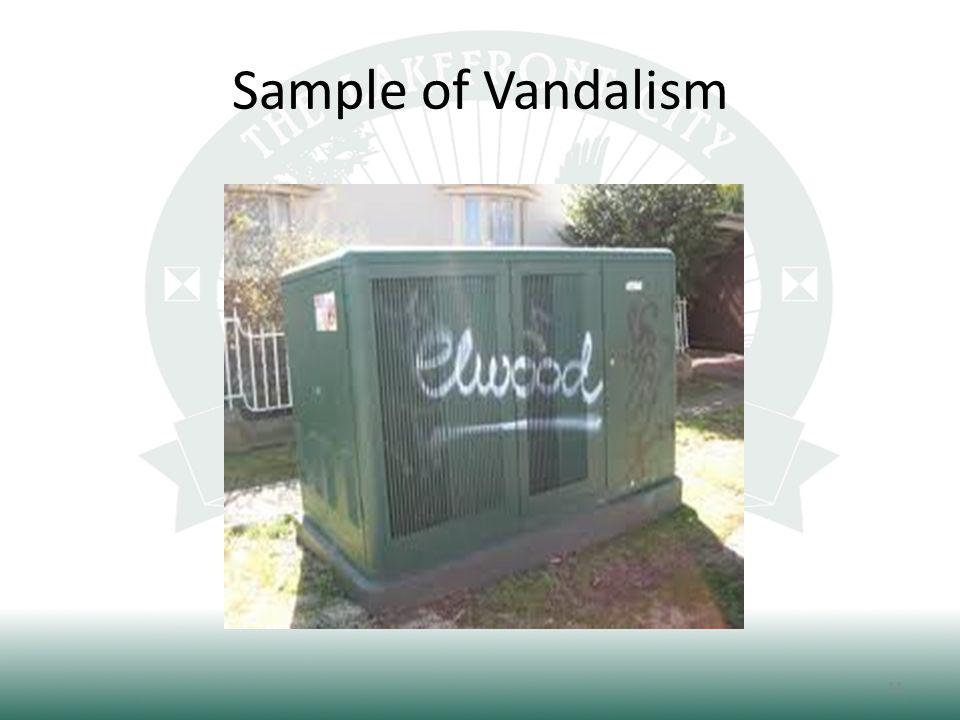 Sample of Vandalism 11