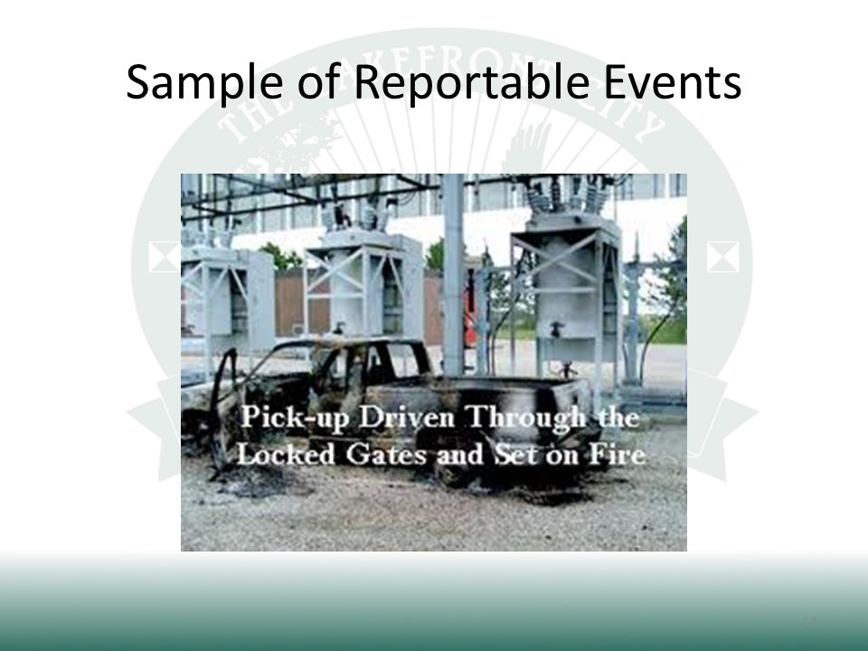 Sample of Reportable Events 14