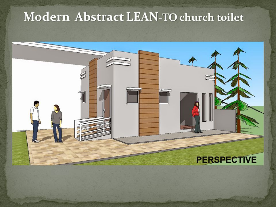 Modern Abstract LEAN -TO church toilet
