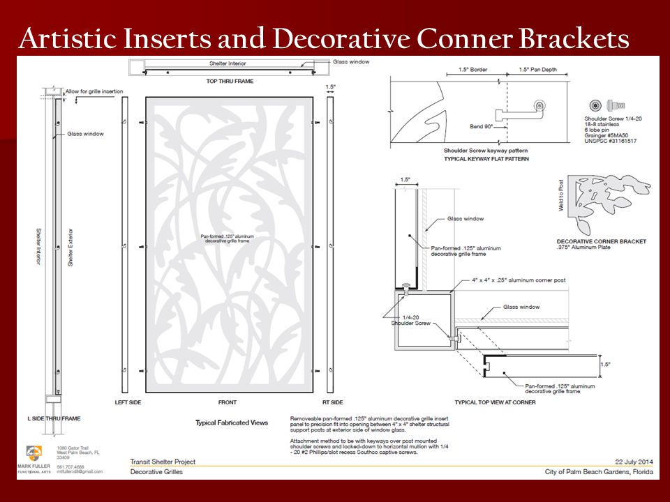 Artistic Inserts and Decorative Conner Brackets