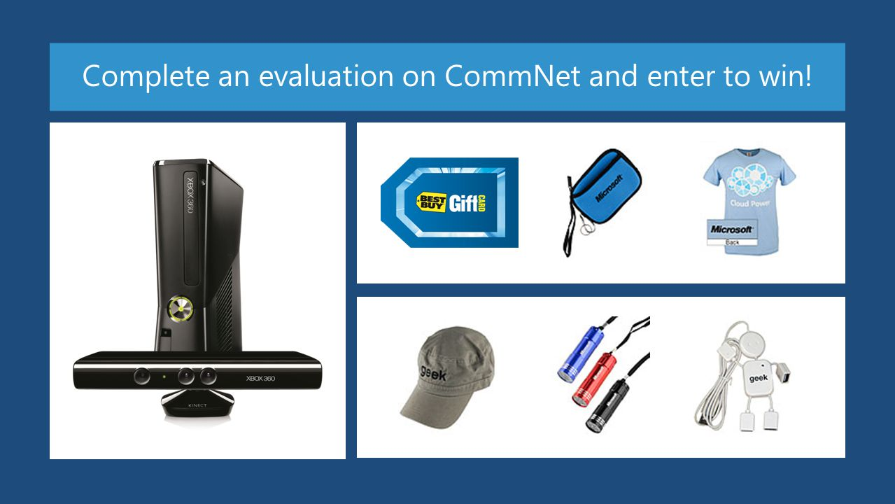 Required Slide Complete an evaluation on CommNet and enter to win!