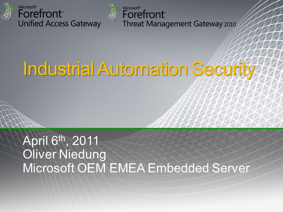 2 Today's Security Challenge Securing current Windows Embedded based Automation Systems Managing security in modern Windows based Automation System environment How to benefit from Cloud Computing in securing Automation Systems Q&A Agenda