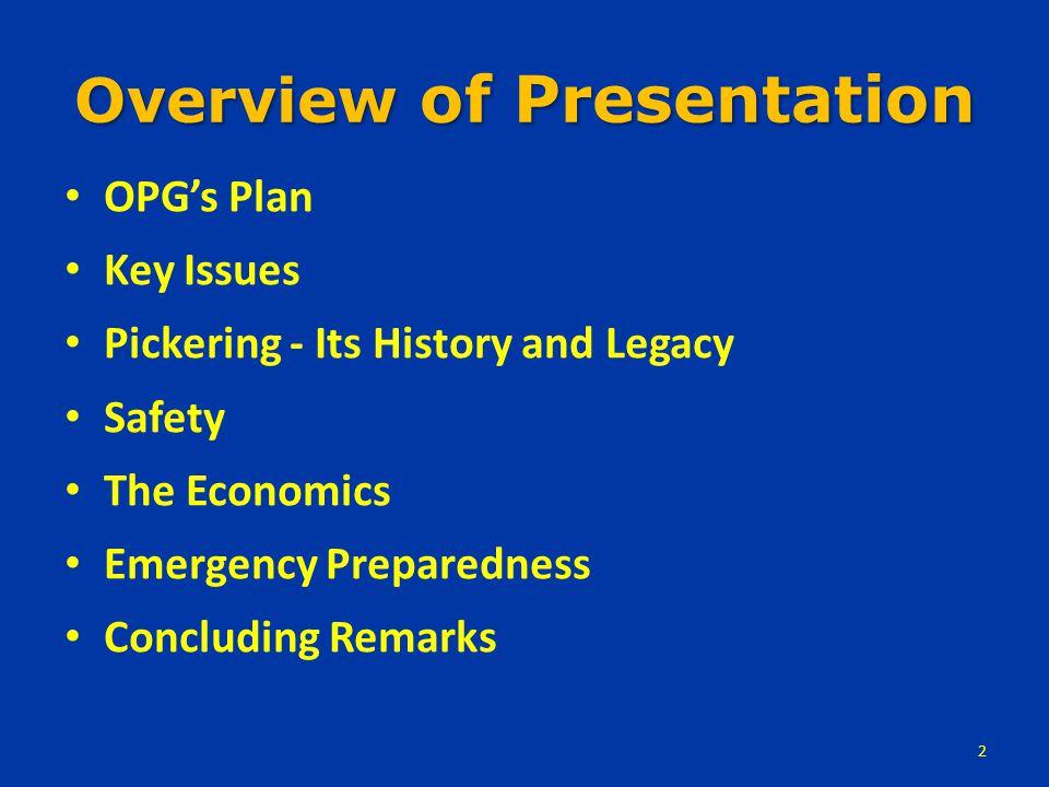 OPG's Plan...