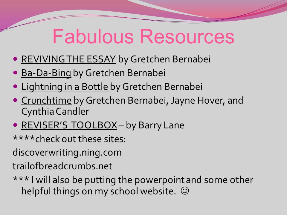Write, write, baby! (by Carrie Strmiska, Round rock isd) All right, STOP, elaborate and listen… 4 th grade is back with a brand new conventions. Someo
