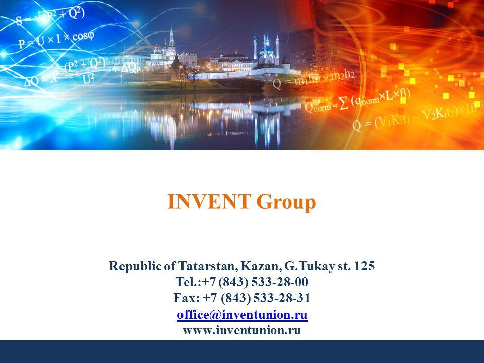 INVENT Group Republic of Tatarstan, Kazan, G.Tukay st.