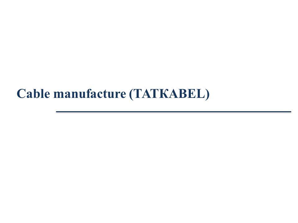 Cable manufacture (ТАТКАBЕL)