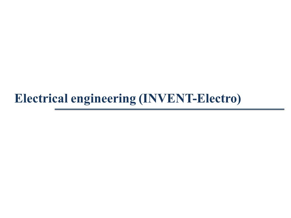 Electrical engineering (INVENT-Electro)