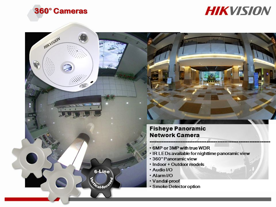 360° Cameras Fisheye Panoramic Network Camera --------------------------------------------------------------------- 6MP or 3MP with true WDR 6MP or 3M