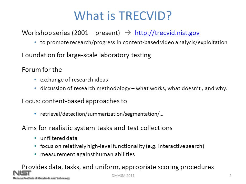 What is TRECVID.
