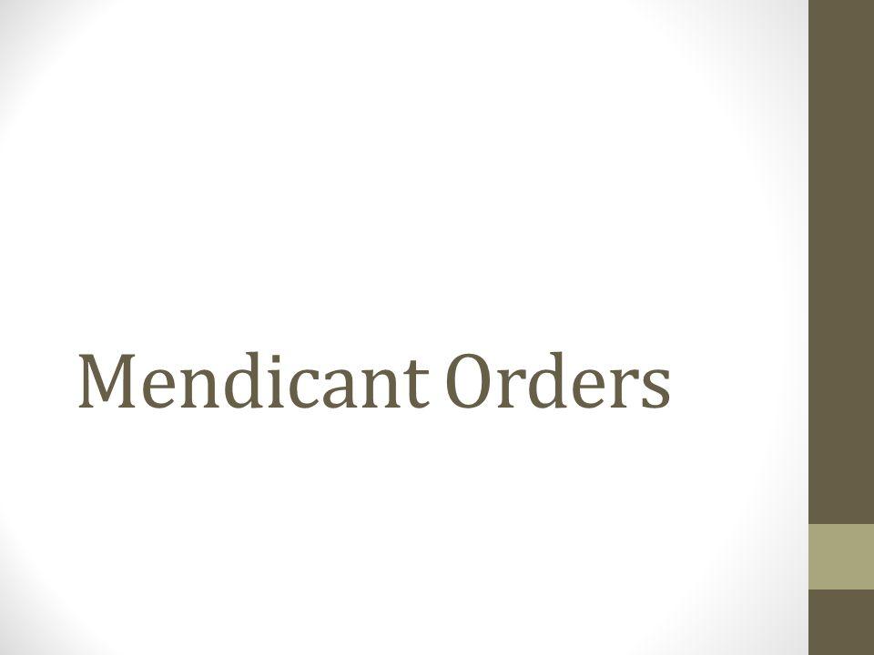 Mendicant Orders