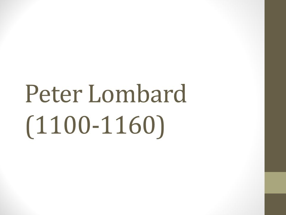 Peter Lombard (1100-1160)