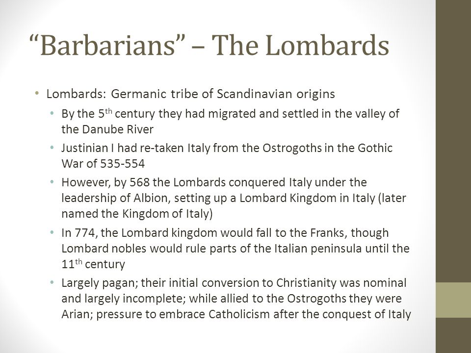 Barbarians – The Burgundians Burgundians: East Germanic tribe, initially from Scandinavia In 369, Valentinian I enlisted the help of the Burgundians to fight against another tribe, the Alamanni They crossed the Rhine and entered the empire in the early 5 th century with other tribes of the great Germanic migration (e.g.