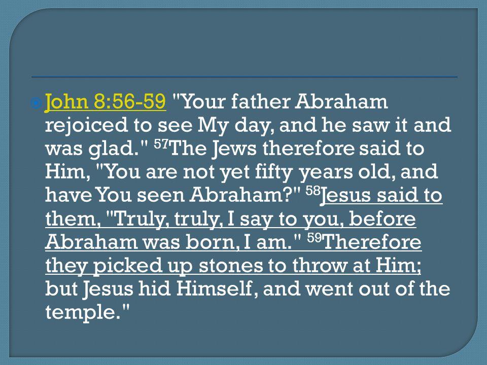  John 8:56-59