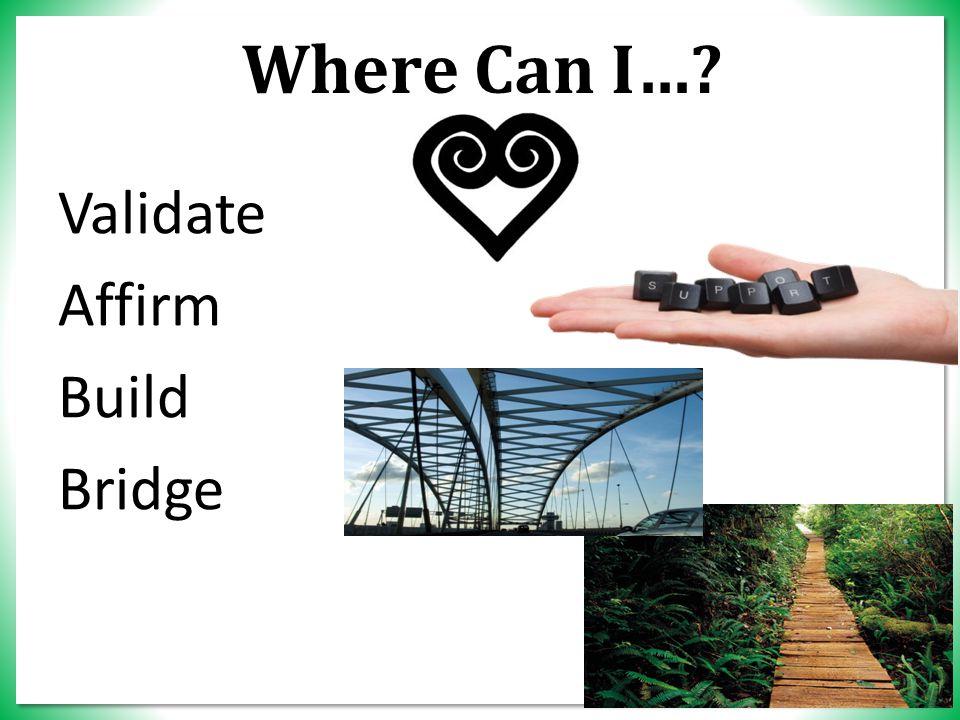 Where Can I… Validate Affirm Build Bridge