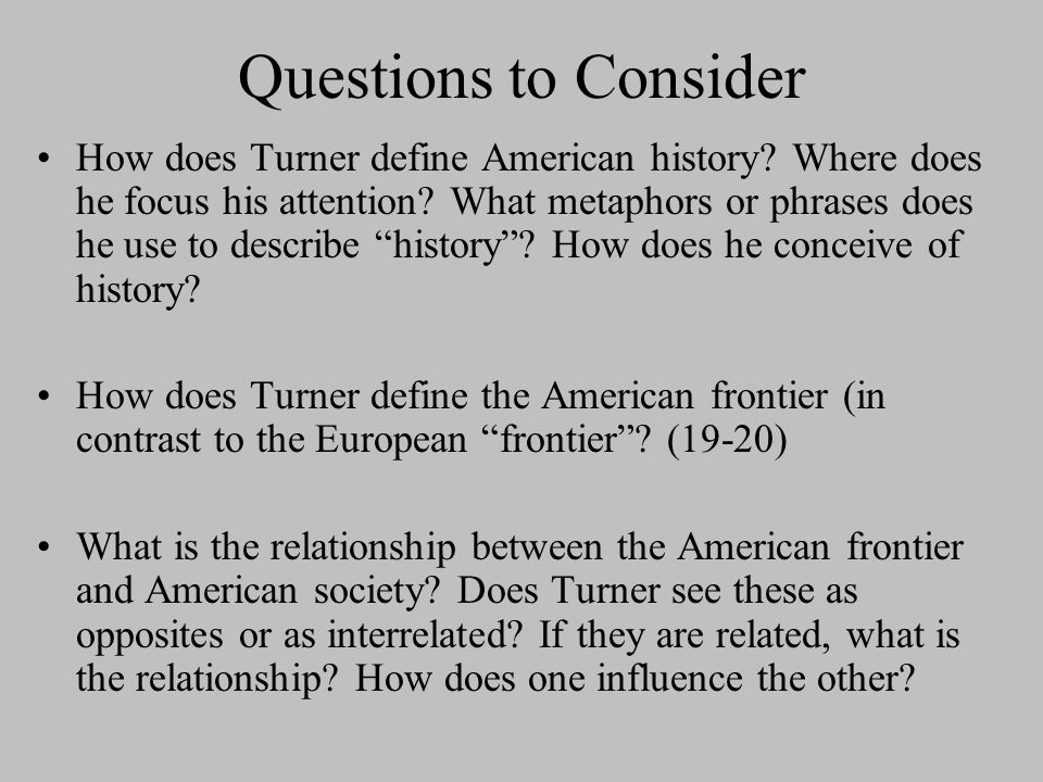 turners frontier thesis apush quizlet