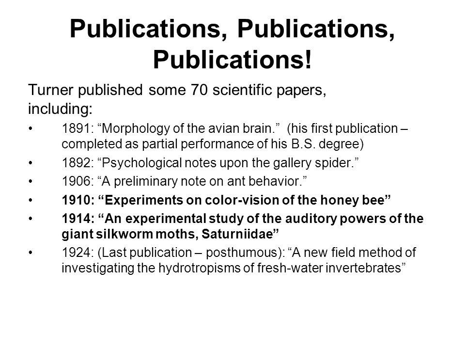 Publications, Publications, Publications.