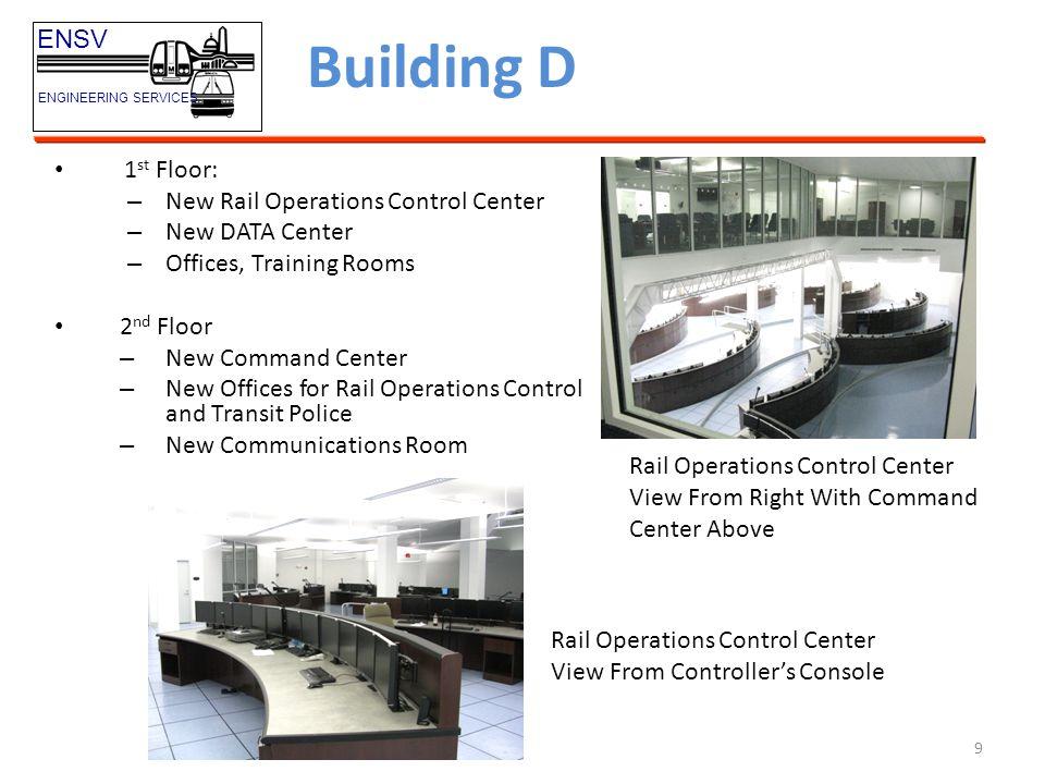 10 Building D ENSV ENGINEERING SERVICES Command Center Communications Room Elevator/Escalator Lab