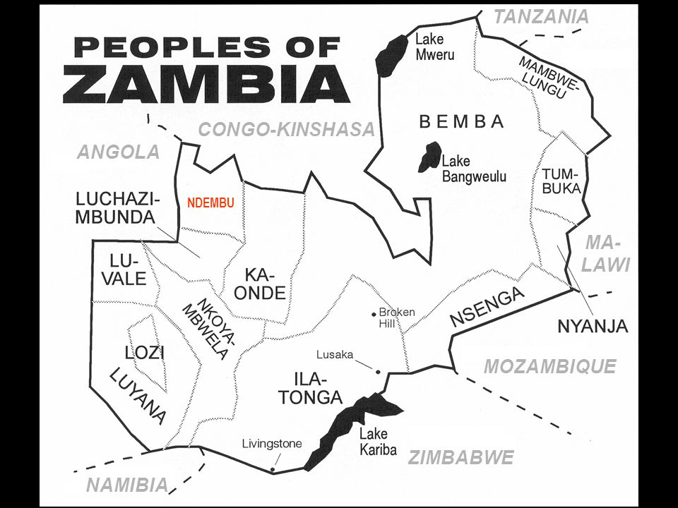 ZIMBABWE MOZAMBIQUE NAMIBIA ANGOLA CONGO-KINSHASA MA- LAWI TANZANIA NDEMBU