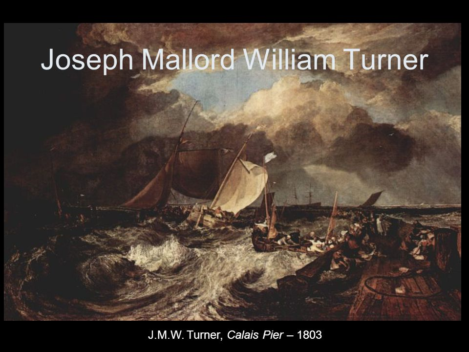 1810 - The shipwreck of the Minotaur, by J. M. W. Turner
