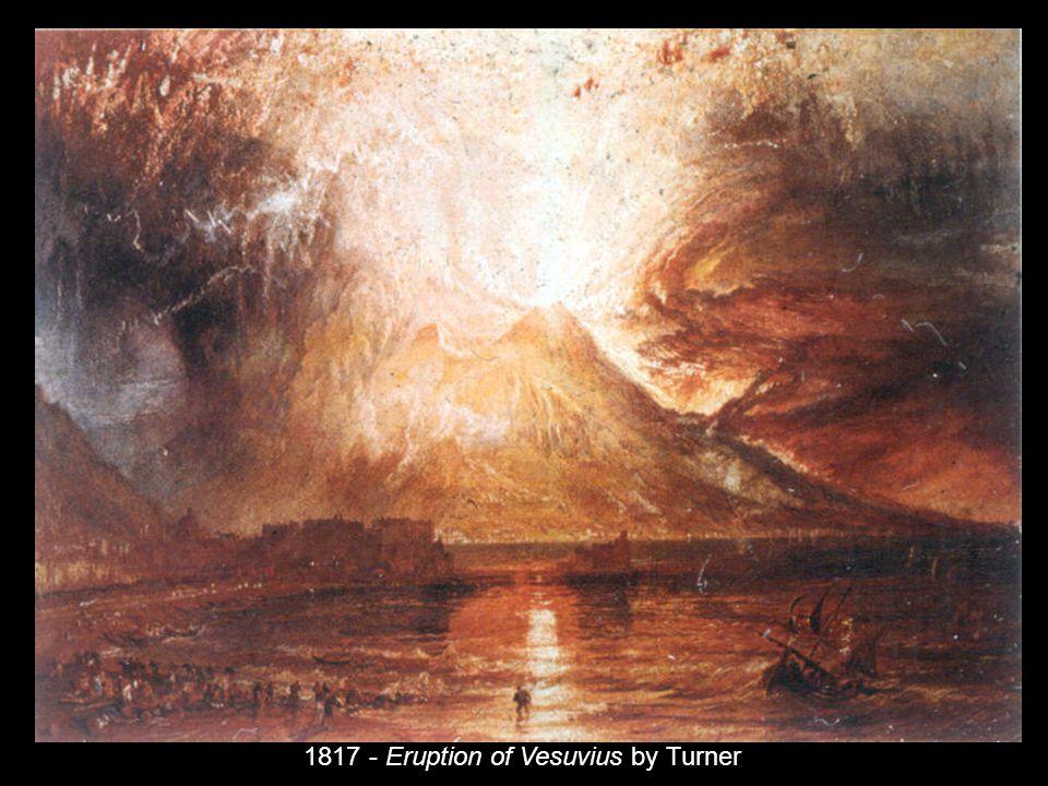 1817 - Eruption of Vesuvius by Turner