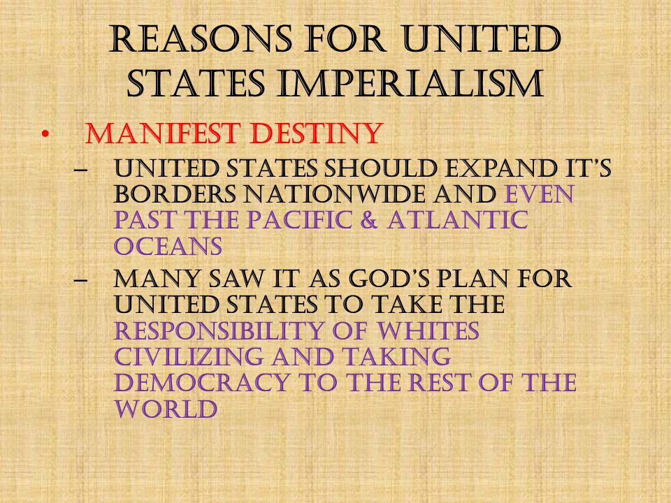 Reasons for United States Imperialism Social Darwinism – What is Social Darwinism.