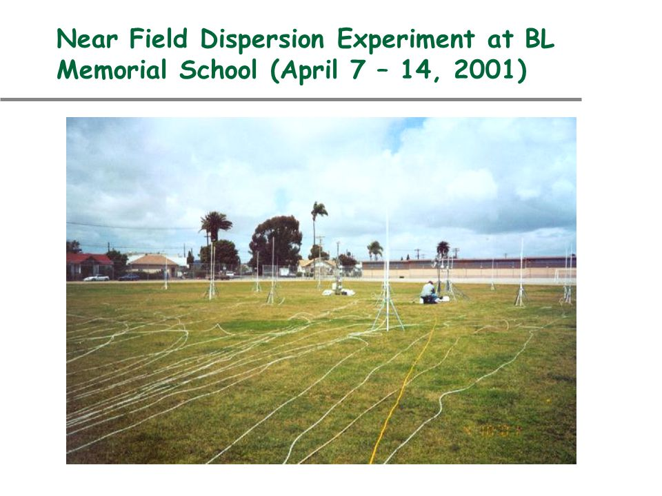Model Field Study u Understand dispersion in flat terrain at distances of less than 50 m u Examine the effect of increasingly complicated building structures on –Turbulence –Dispersion