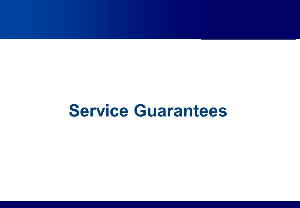 Services Marketing Slide © 2010 by Lovelock & Wirtz Services Marketing 7/e Chapter 13 – Page 14 Service Guarantees