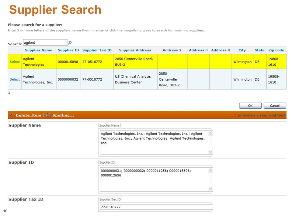 Supplier Search 10
