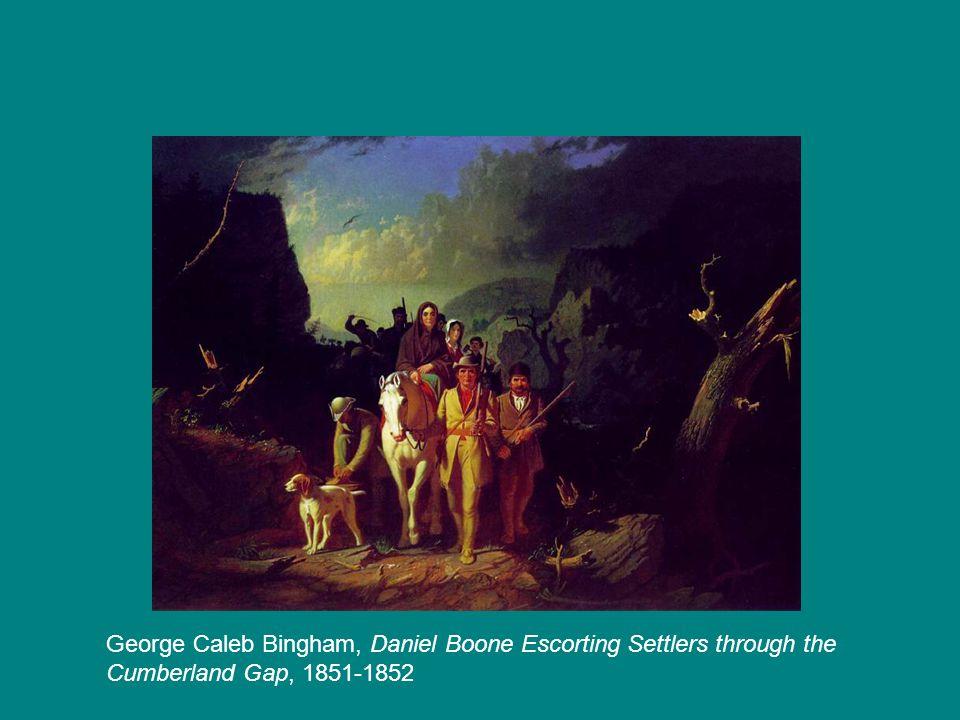 George Caleb Bingham, Daniel Boone Escorting Settlers through the Cumberland Gap, 1851-1852