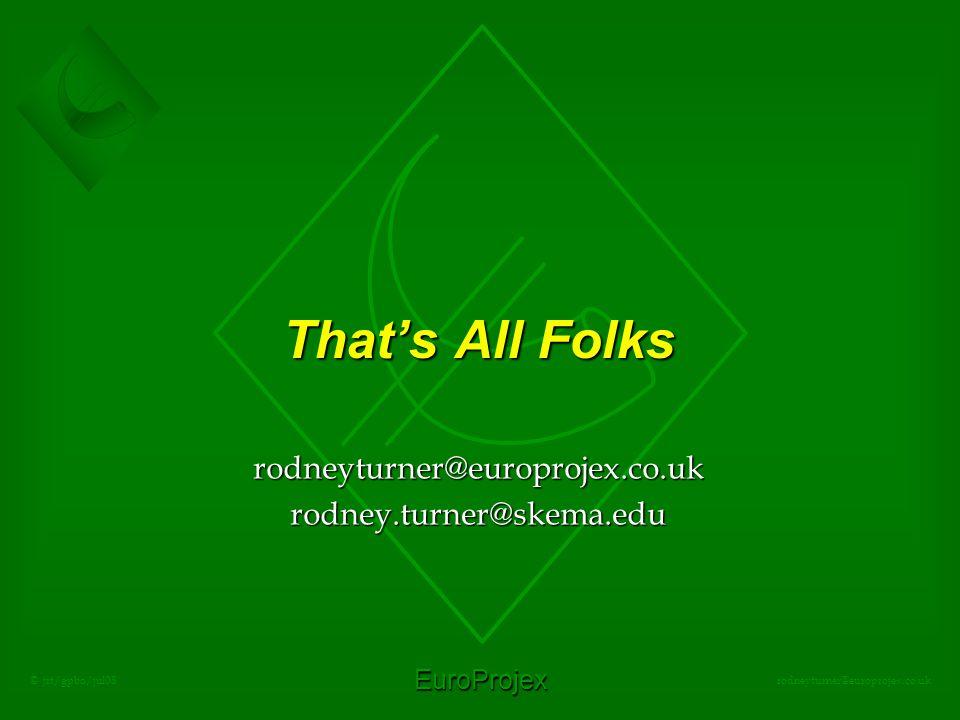 EuroProjex rodneyturner@europrojex.co.uk © jrt/gpbo/jul08 That's All Folks rodneyturner@europrojex.co.ukrodney.turner@skema.edu