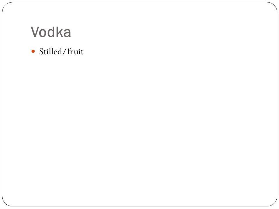 Vodka Stilled/fruit
