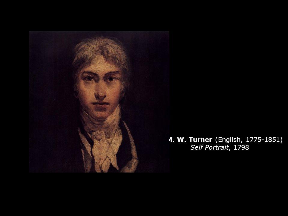 J. M. W. Turner (English, 1775-1851) Self Portrait, 1798