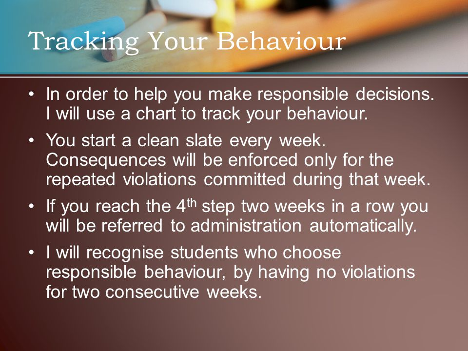 Tracking Your Behaviour In order to help you make responsible decisions.