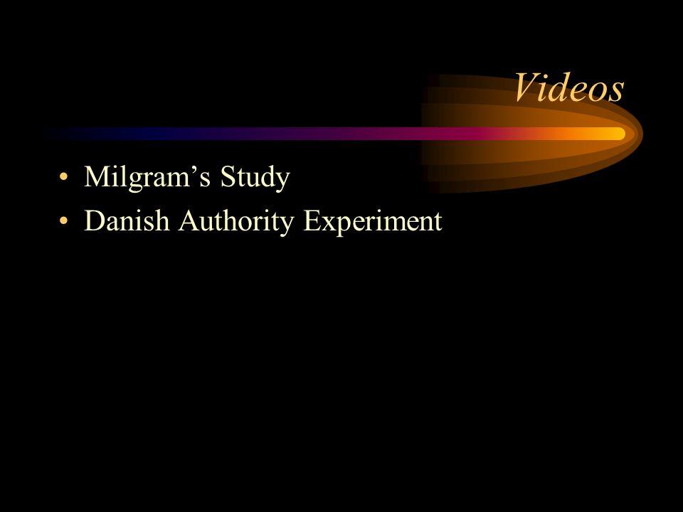 Videos Milgram's Study Danish Authority Experiment
